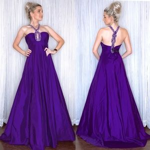 Purple Pageant Prom Homecoming Dress Evening Gown